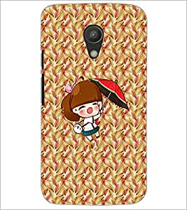 PrintDhaba Pretty Doll D-5634 Back Case Cover for MOTOROLA MOTO G2 (Multi-Coloured)