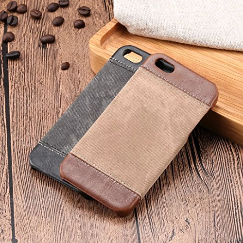iPhone Case Cover Art- und Weisemischung und Gleich-Farben-Kasten-Abdeckung, Cowboy-Jeans-Muster-harte Abdeckung für IPhone 5 5S SE ( Color : Brown , Size : IPHONE 5S SE ) Black