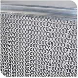 GENI Vliegscherm 90cm x 200cm Premium Aluminium Fly Deurketting Gordijn voor deuropeningen, insectenscherm, houdt insecten ui