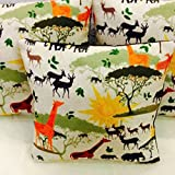 #2: Indian Online Mall Printed Jute cushion cover 16x16 inch set of 5 Animal Lover , limited period offer- grap the deal