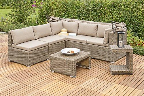 Merxx Livorno Lounge Set, verschiedene Aufstellmöglichkeiten, mit Dach und Kissen