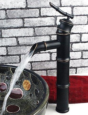 khskx traditionellen Bambus gemeinsame oil-rubbed Bronze-Finish Waschbecken Wasserhahn