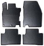 AME Auto-Gummimatten in schwarz und Wabendesign, Geruch-vermindert und passgenau mit verbauten Befestigungen 871/4C
