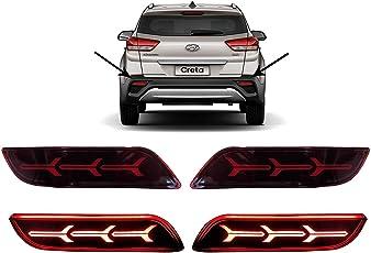 AUTOXYGEN Back Bumper Rear Reflector DRL_3For Hyundai Creta 2018 Onwards