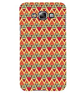 Printvisa Red And Orange Triangle Patterns Back Case Cover for Samsung Galaxy Grand 3 G720::Samsung Galaxy Grand Max G720