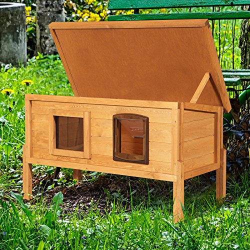 Extra-Large-External-Self-Heating-Cat-Kennel-with-One-Way-Privacy-Window