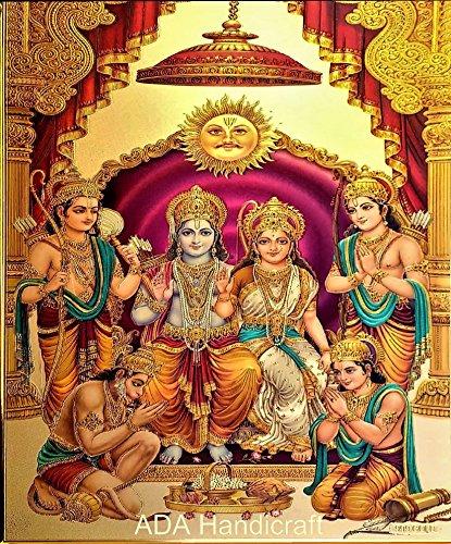 ADA Handicraft Hindu Lord Goddess God Photo for Pooja and Wall/Hindu Bhagwan Devi Devta Photo/God Poster (Pack of Two)