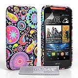 Yousave Accessories® HTC Desire 310Hülle–Schwarz/Multi Silikon Quallen Gel Cover
