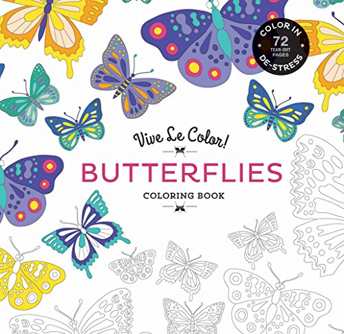 Vive le Color: Butterflies: Coloring Book