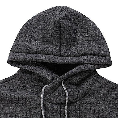 Junshan herren kaputzenpullover oversize hoodies männer sweatshirt Herbst Winter kaputzenpulli Schwarz