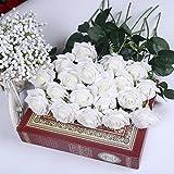 10 Stk. Seide künstliche Rose,künstliche Rose Blumen Kunstblumen Blume Dekoration Blumenstrauß DIY Weiß Rosen Blumenarrangement