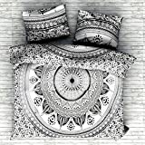 #3: Urban Trends New Exclusive Range of Queen Size 100% Cotton Duvet Cover Sets with 2 Pillow Covers, Indian Reversible Duvet Cover Quilt Cover Coverlet Bohemian Doona Cover Handmade 84