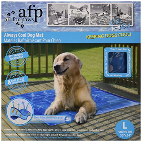 Kühlmatte für Hunde Hundedecke All for Paws Chill Out Always Cool L 90x60 cm -