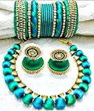 Town Of Trinkets Silk Thread Jewelry set ( Colour can be Customize on Order)