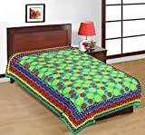 Bedding Bazar King Size Jaipuri Cotton Multi Color Printed 1 Single Bedsheet Without Pillow Cover