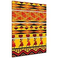 """Bilderdepot24 Cuadros en Lienzo """"Diseño de África"""" 120x180 cm 4 piezas - listo tensa, directamente desde el fabricante"""