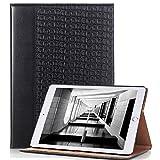 iPad Pro 12.9 Case, elecfan® Ultra Dünn Leichtgewicht Book Style Flip PU Leder Hülle Tasche Wasserdicht Case Smart Cover mit Ständer / Auto Schlaf Wach Funktion Anti Kratzer Schutzhülle für iPad Pro 12.9 (iPad Pro 12.9, Schwarz)