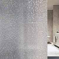 Velimax 3D Pegatina Privacidad Estática sin Cola Adhesiva Decorativa con Dibujo Masaico del Vidrio por Casa Oficina Baño Salón Cocina 90cm*200cm