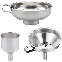 Imbuto da cucina resistente in acciaio inox con colino  ideale per trasferire spezie  polvere liquida  marmellata  marmellata di fagioli  lavabile in lavastoviglie