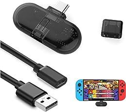 YIKESHU Tragbarer Bluetooth Audio USB Transceiver mit aptX Low Latency für Nintendo Switch, Laptop und Desktop Computer/Bluetooth Audio Sender, Bluetooth Soundkarte mit Echtzeit Audio Sync