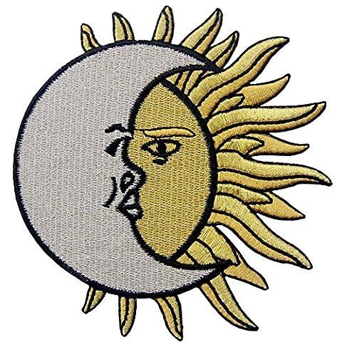 croissant de lune Plus de soleil brodée à repasser ou à coudre Patch céleste