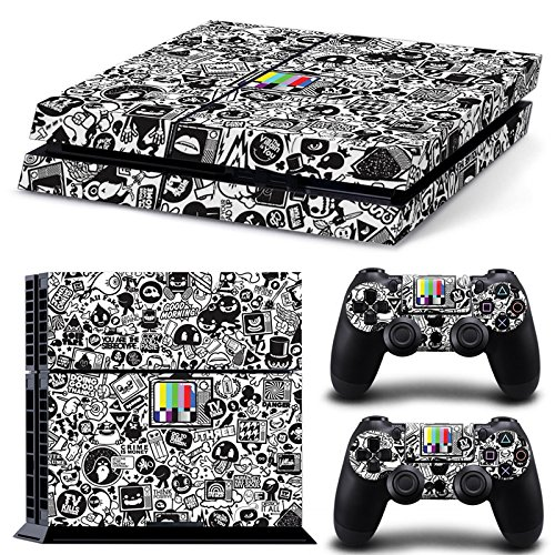gamecheers-ps4-console-and-dualshock-4-controller-skin-autocollant-set-collage-brand-design-hoonigan