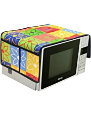 AEROHAVEN Designer Microwave Oven Top Cover with 4 Pockets(2 Each Side) Suitable for Any Brand. Capacity - 20-30 Litre(35.5 cms x 86 cms) (Multicolor (Floral))