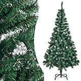 Künstlicher Weihnachtsbaum Tannenbaum 180 cm grün mit Schnee inkl. Ständer