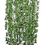 U'Artlines 24 Stück 168 FT Efeu-künstliche gefälschte Efeu verlässt die Girlanden, die für Hochzeitsfest-Garten hängen