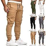Guanghuansishe Pantaloni Cargo Uomo Pantaloni da Lavoro con Tasche Laterali Pantaloni da Lavoro, Pantaloni Slim Fit Pantalone