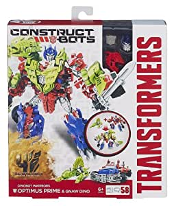 Transformers Age of Extinction Construct-Bots Optimus Prime And Gnaw Dino