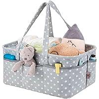 Baby Nappy Caddy Organiser   Diaper Storage Basket   Portable Nursery Storage   100% Organic Cotton Canvas   by KangZilla