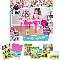 Preisvergleich für Offiziell lizenziert My Little Pony Craft Bundle Girl Geschenk - Malvorlagen mit 5m Papierrolle und Jumbo Buntstifte & Craft Artikel - 3 Jahre +