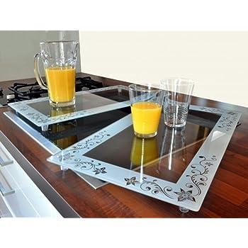 2 x xl prot ge plaque de cuisini re en verre pour plaques. Black Bedroom Furniture Sets. Home Design Ideas