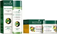 Biotique Bio Cucumber Pore Tightening Toner, 120ml and Biotique Bio Fruit Whitening And Depigmentation & Tan Removal Face Pac