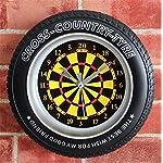 Reloj de Pared 3D Ocio Entretenimiento Decoración del hogar dardos alarma Reloj Reloj de pared Bell