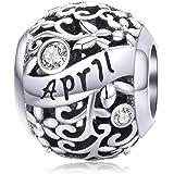 Ciondoli in argento sterling 925 compatibili con collane con braccialetti con ciondoli Pandora, ciondoli con perle di complea