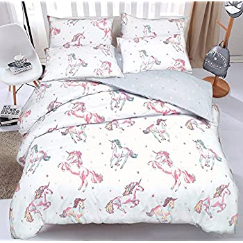 cheval spectacle double housse de couette et taie d 39 oreiller set cuisine maison. Black Bedroom Furniture Sets. Home Design Ideas