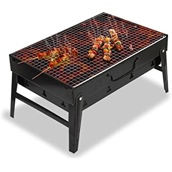 Mbuynow Barbecue Grill, Portable Charcoal Barbecue Table Camping Outdoor Garden Grill BBQ Utensil