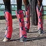 Weatherbeeta breit Tab lang Horse Transportgamaschen–rot/marineblau Pony