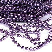 Christmas-Decorations Perlenkette 20mm Kunststoff 2,7m Lang Lila Viollet //// Baumschmuck Weihnachtsschmuck Perlengirlande Tischdeko Deko