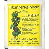 BORDEAUX LEVURE DE VIN Kitzinger - Levure sèche | Levure de Fermentation | Levure Nutritive | Levure Mead | Nutritif…