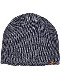 Camel Active Strickmütze für Herren: Mütze aus Woll-Mix, Bequeme Passform, Denim-Style, 406320 4M32