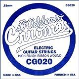 D\'Addario Corde seule à filet plat pour guitare électrique D\'Addario CG020, .020