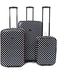 Constellation 3 Piece Blue Spot Printed Suitcase Set 18""