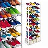 HARSHEEN SALES Stackable Shoe Rack 64 Pairs Shoe Rack Organizer 10 Layer Shoe Rack/Shoe Shelf/Shoe Cabinet Multipurpose Modern 10 Layer Metal Book Rac