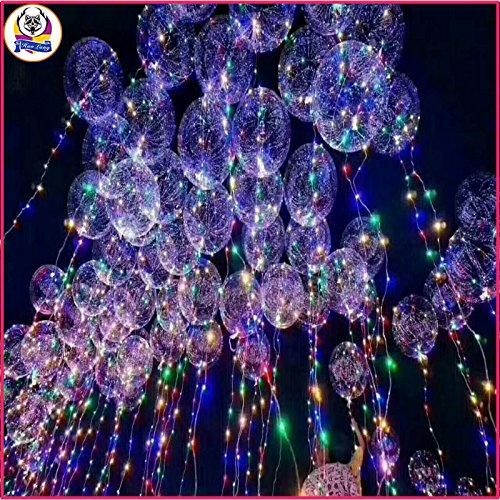PANGUN Leuchtende LED Ballon Transparent Runde Blase Dekoration Party Wedding-18Inch