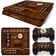 46 North Design Ps4 Slim Playstation 4 Slim Pegatinas De La Consola Old Time Machine Clock + 2 Pegatinas Del Controlador