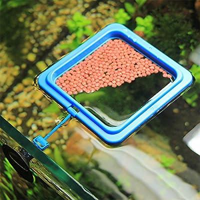 UEETEK 2 Pcs Aquarium Feeder Ring Station Fischfutter mit Saugnapf