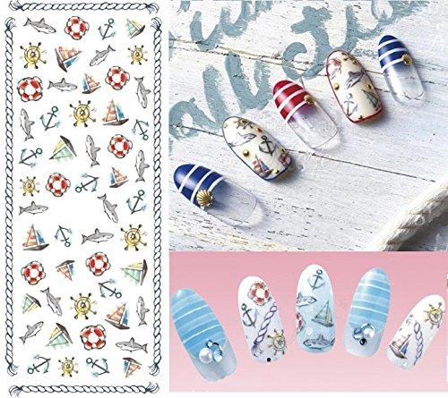 Autocollants de transfert à eau pour la décoration des ongles Ancre - DS216 Nail Sticker Tattoo - FashionLife